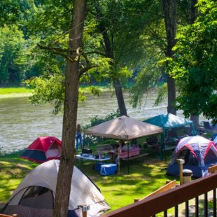 tents and picnic areas along river Indian Head Canoeing Rafting Kayaking Tubing Delaware River