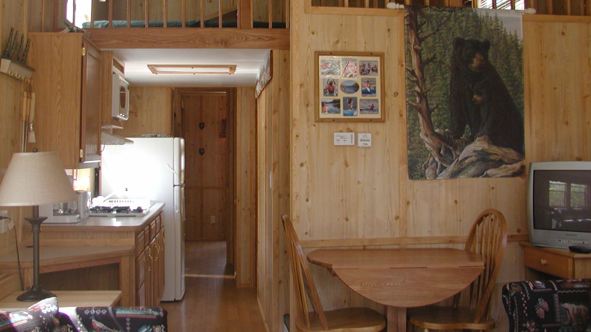 Deluxe Cabin w Loft interior