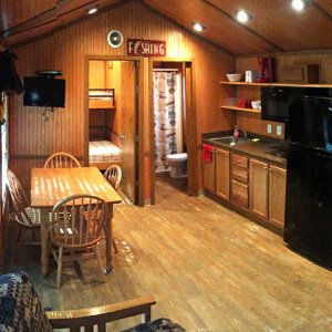 kitchen view of cabin Indian Head Canoeing Rafting Kayaking Tubing Delaware River