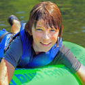 close up of young boy in tube Indian Head Canoeing Rafting Kayaking Tubing Delaware River
