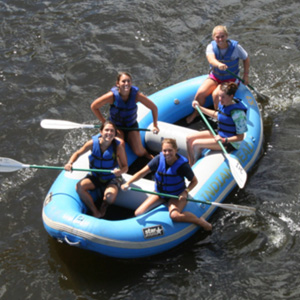 group of 5 rafting to Barryville Indian Head Canoeing Rafting Kayaking Tubing Delaware River