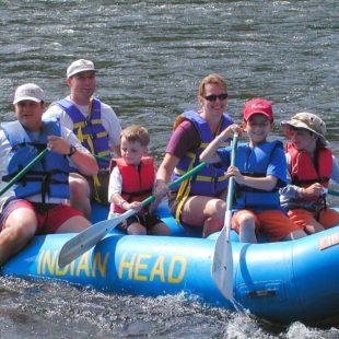 adults and children enjoy rafting Indian Head Canoeing Rafting Kayaking Tubing Delaware River