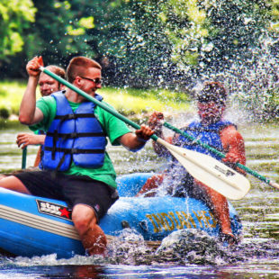 a little splash fun rafting to Barryville Indian Head Canoeing Rafting Kayaking Tubing Delaware River