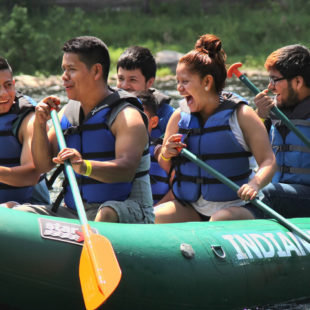 group of rafters having fun on the water Indian Head Canoeing Rafting Kayaking Tubing Delaware River
