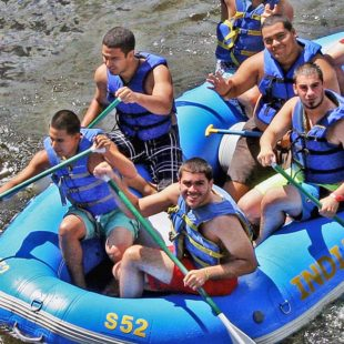 group of men in raft Indian Head Canoeing Rafting Kayaking Tubing Delaware River