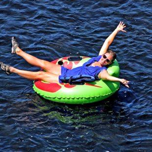 woman enjoying tubing Indian Head Canoeing Rafting Kayaking Tubing Delaware River