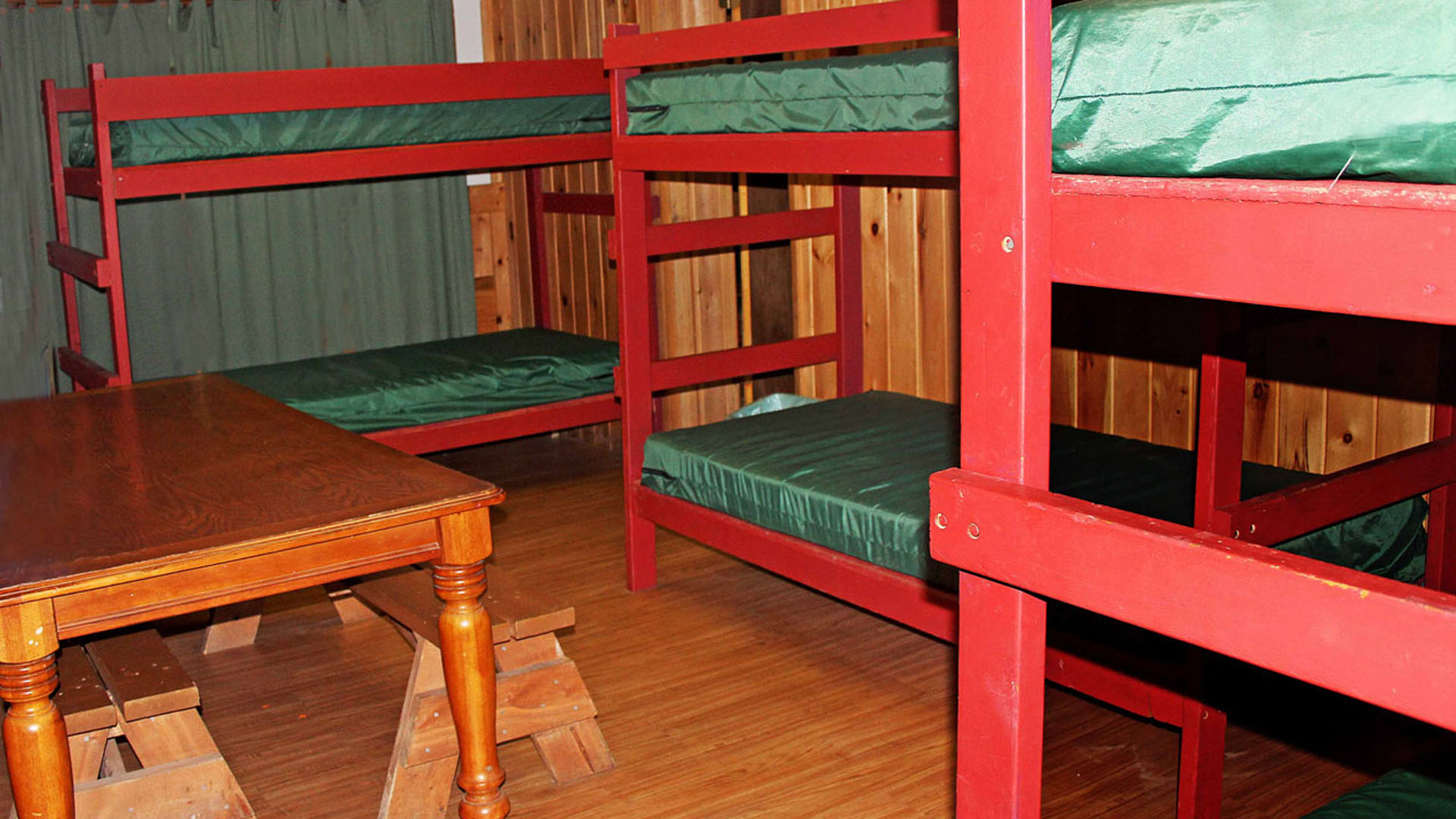close up of bunkbeds in bunk house Indian Head Canoeing Rafting Kayaking Tubing Delaware River